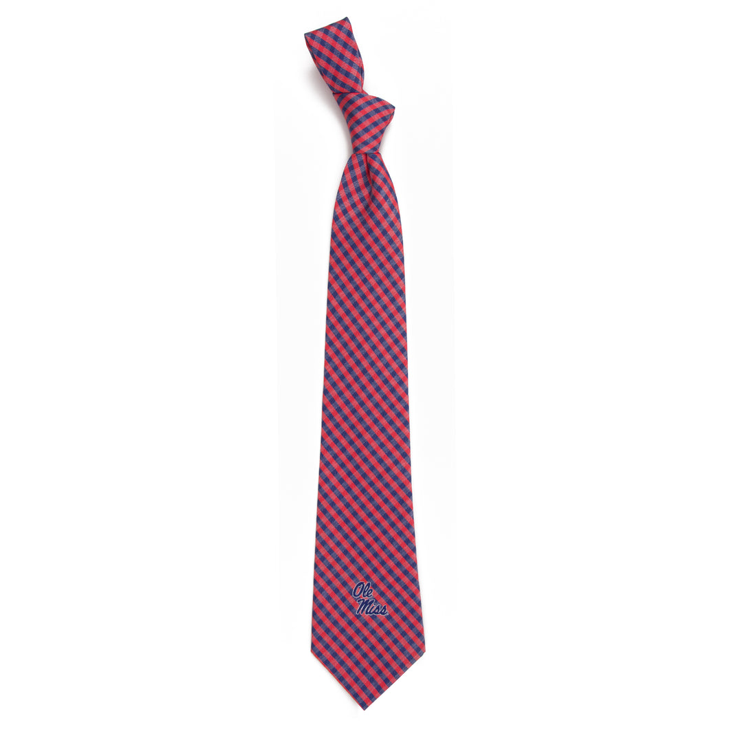 Ole Miss Rebels Tie Gingham