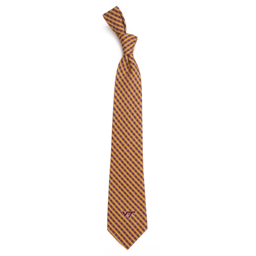Virginia Tech Hokies Tie Gingham