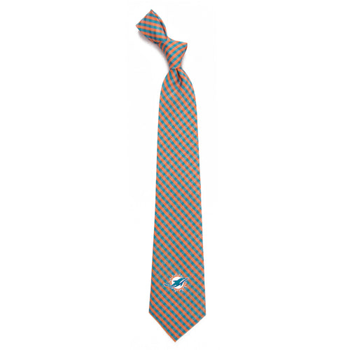Miami Dolphins Tie Gingham