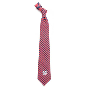 Washington Nationals Tie Gingham