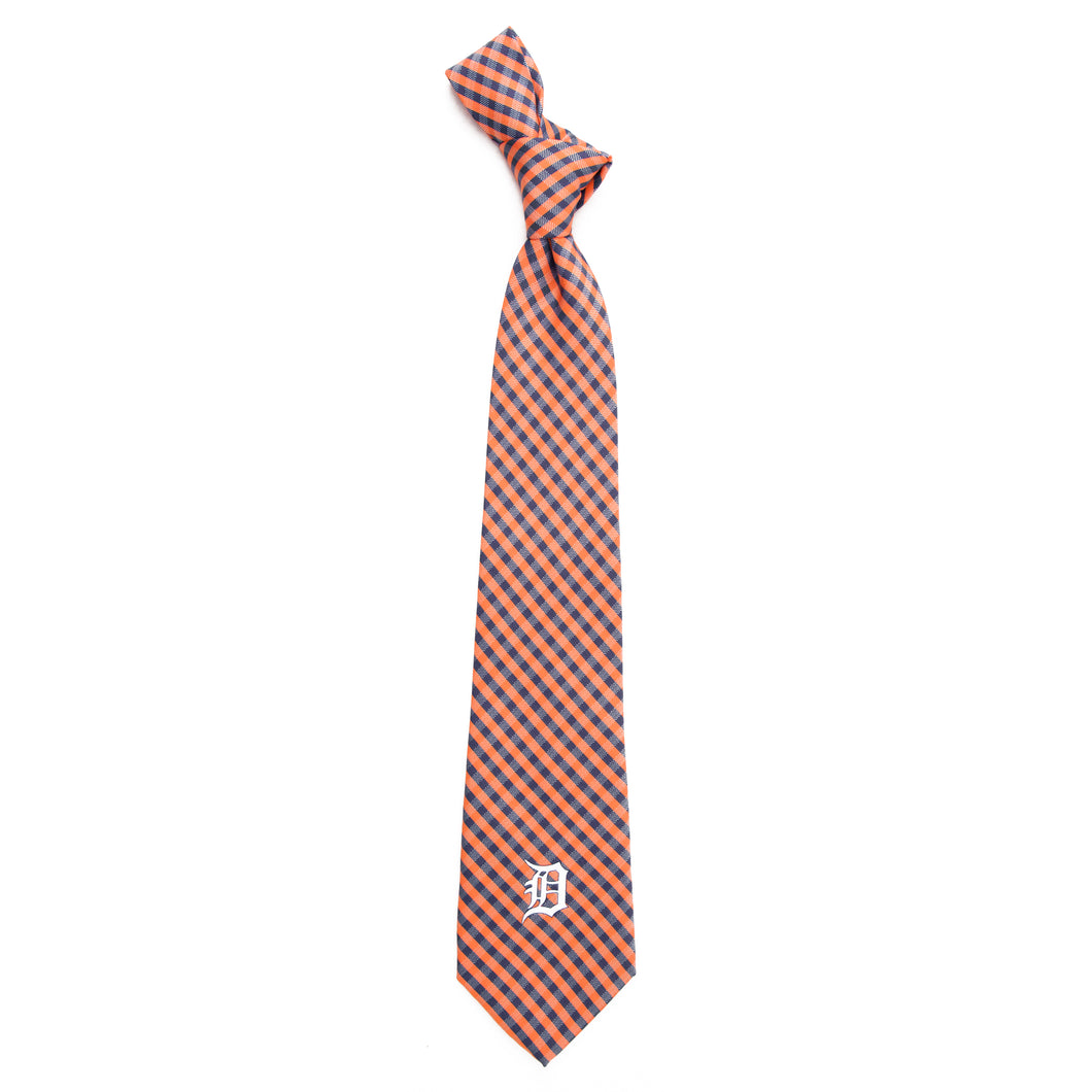 Detroit Tigers Tie Gingham