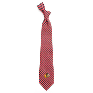 Blackhawks Tie Gingham