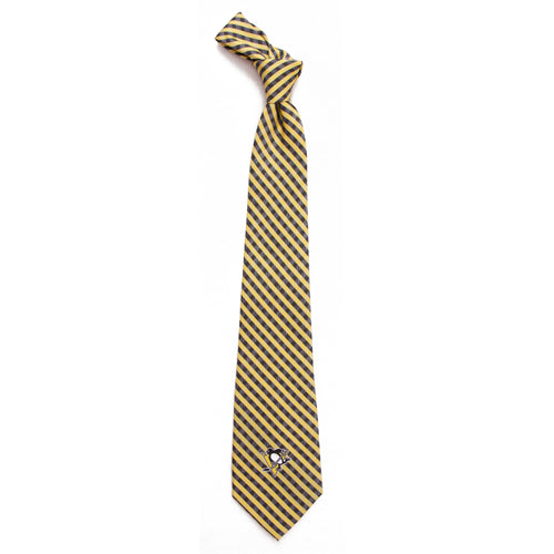 Penguins Tie Gingham