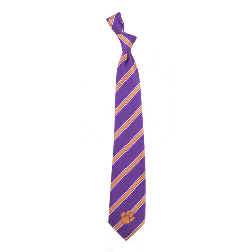 Clemson Tigers Tie Woven Poly 1