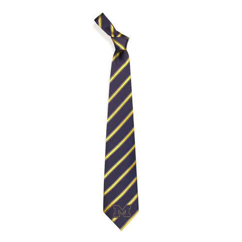 Michigan Wolverines Tie Woven Poly 1