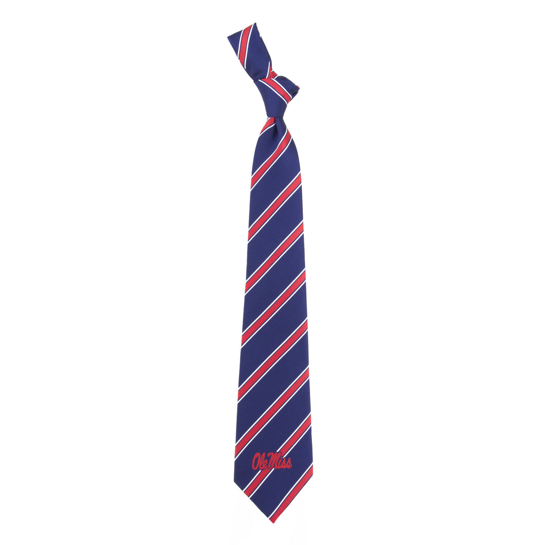 Ole Miss Rebels Tie Woven Poly 1