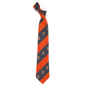 Illinois Fighting Illini Tie Geo Stripe