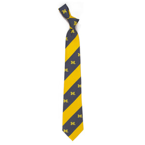 Michigan Wolverines Tie Geo Stripe