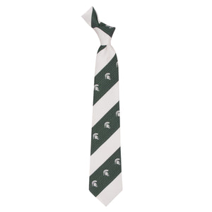 Michigan State Spartans Tie Geo Stripe