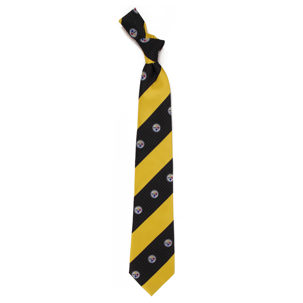 Pittsburgh Steelers Tie Geo Stripe