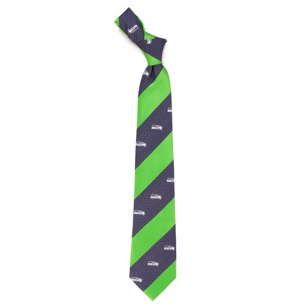 Seattle Seahawks Tie Geo Stripe