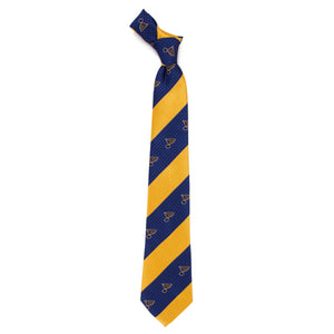 Blues Tie Geo Stripe