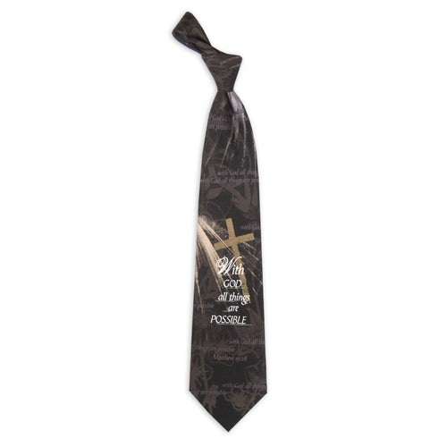 Inspirational Tie - All Things Possible