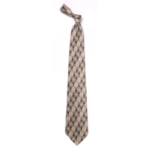 Inspirational Tie - Gradient Pattern Cross Khaki