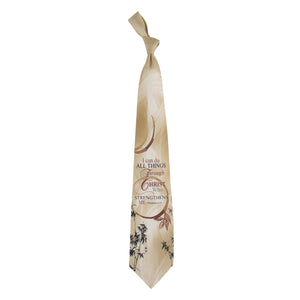 Inspirational Tie - Christ Strengthens Me