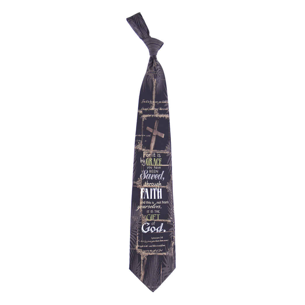 Inspirational Tie - Saved Through Faith
