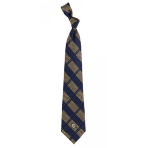 Navy Tie Woven Plaid