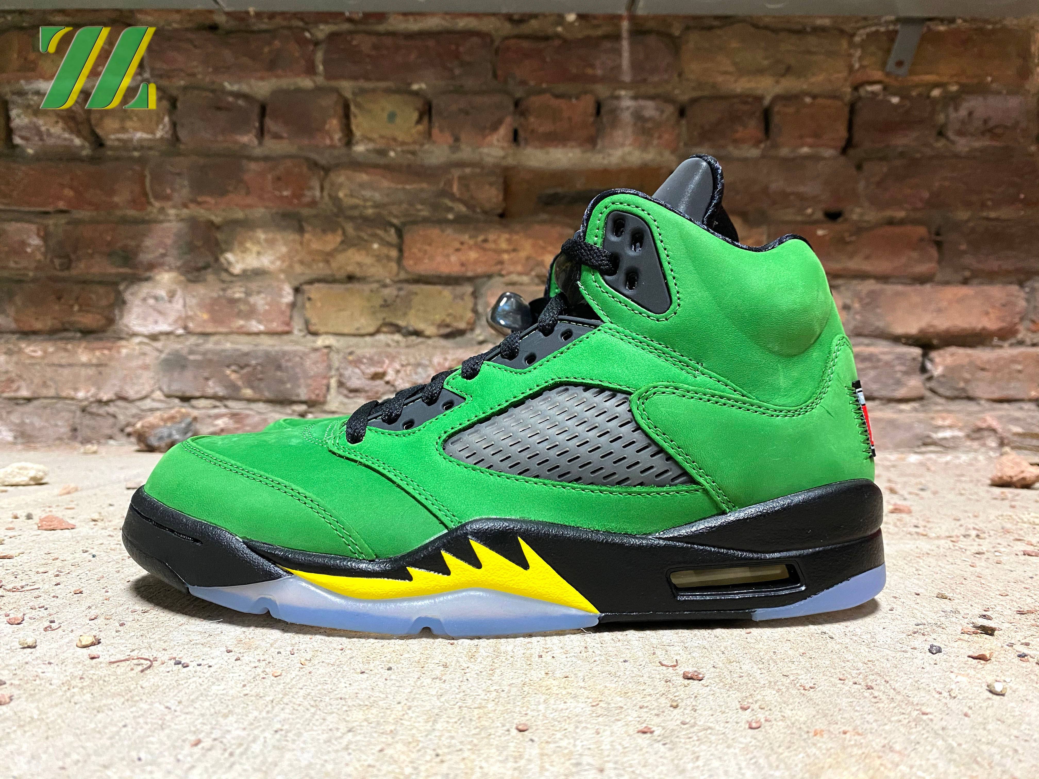 "AIR JORDAN RETRO 5 ""Apple Green"""