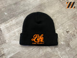 Succezz Skull Cap Black/Orange Life Script
