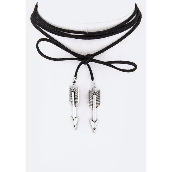 Arrow Charms Wrapped Choker