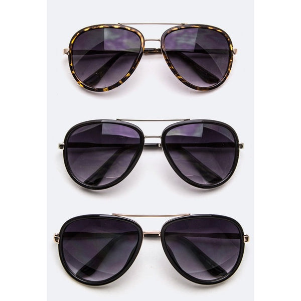 Oval Classic Aviator Sunglasses