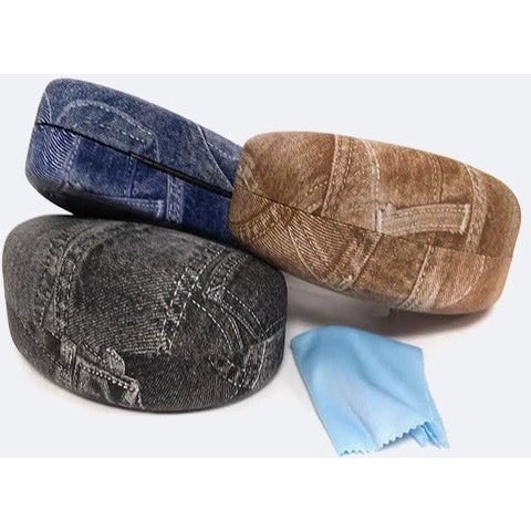 Denim Print Sunglasses Case