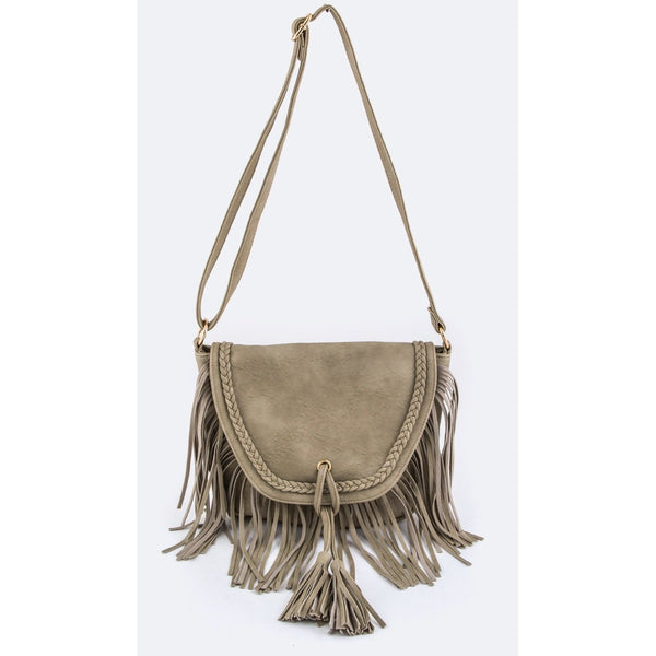 Tassels Fringe Leather Crossbody