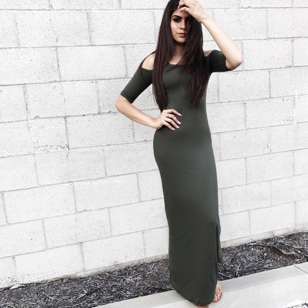 Cold Shoulder Maxi