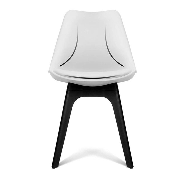 Outstanding Set Of 4 Replica Eames Dsw Pu Leather Chair White Pdpeps Interior Chair Design Pdpepsorg