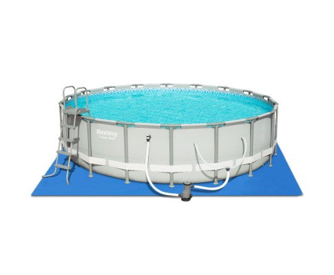 Round Frame Power Steel Above Ground Swimming Pool - 5.49m x 1.32m