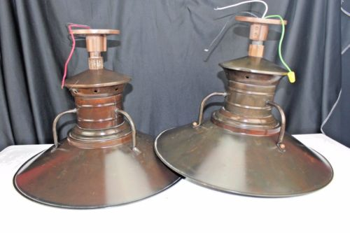 30's-40's Industrial Lighting Copper Lamps Factory./Warehouse Electric Fixtures