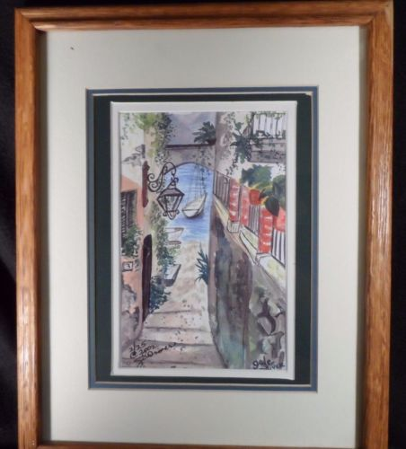 Fine Art Watercolor Painting, Original, European, Signed Gale Driver 2002