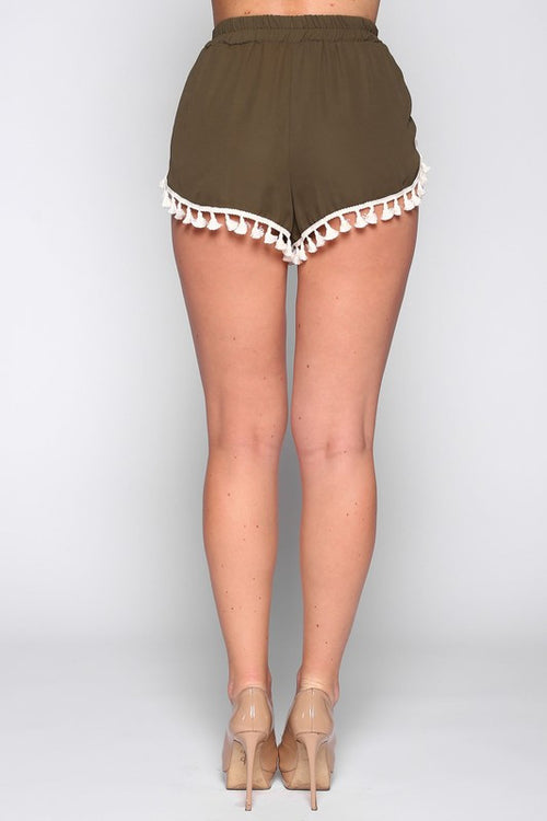 Bohemian Dream Shorts in Olive