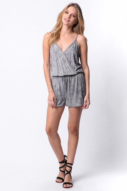 Grey Fog Knit Romper