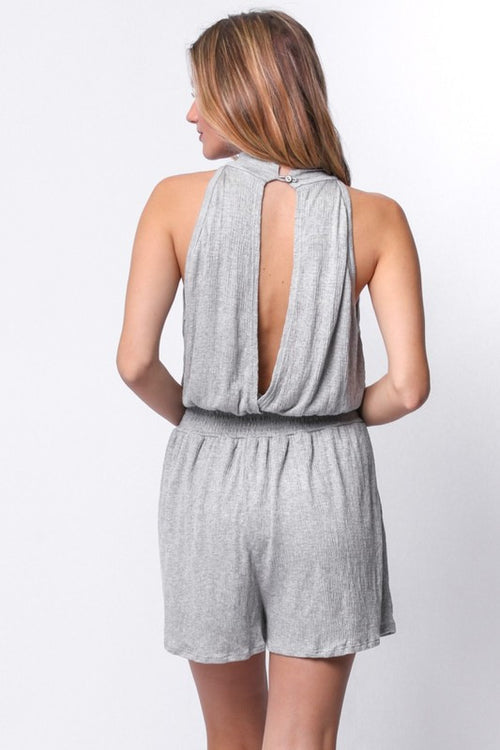 Morning Hike Mock Neck Romper
