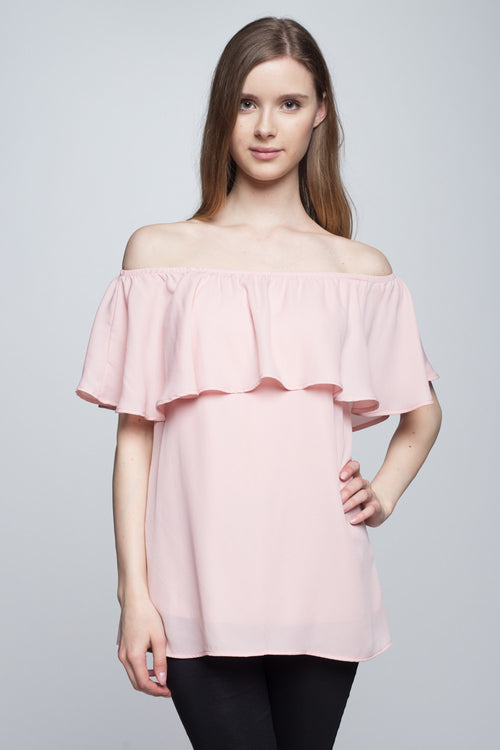 Morning Bloom Off Shoulder Top Blush