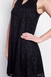 Day to Night Shift Dress in Black Lace