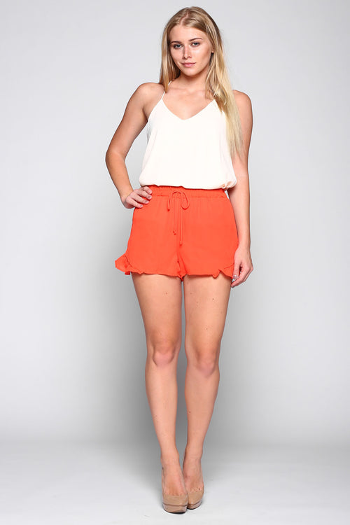 ruffle shorts orange gameday fsu Clemson Tennessee