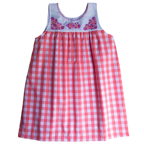 Girls' Coral Dress Oaxaca