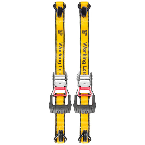 Cat 2 Piece 16 Ft. Super Duty Ratcheting Tie Down Straps - 1500 Lb. 980064N