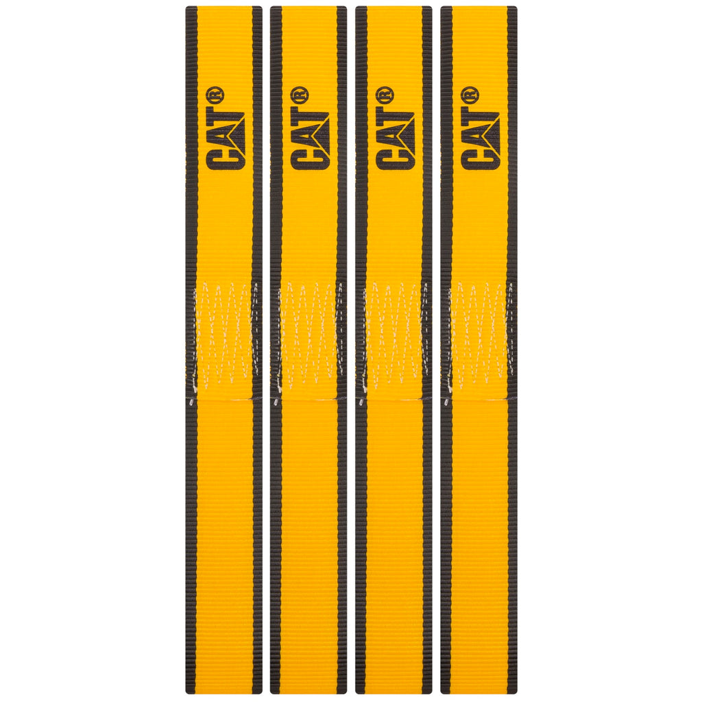 Cat 4 Piece Soft Loop Tie-Down Straps Yellow - 1000 Lb. 980117N