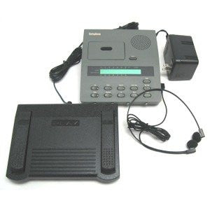 **NEW REBOXED** Dictaphone 3750 Microcassette Transcriber --- Complete with Foot Control and new headset.