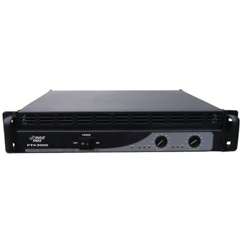"1 - Professional Power Amp (3,000 Watt with Built-In Crossover), 2 A/B-bridgeable channels, Inputs: electronic balanced, barrier strip, XLR & TRS 1/4"", PTA3000"