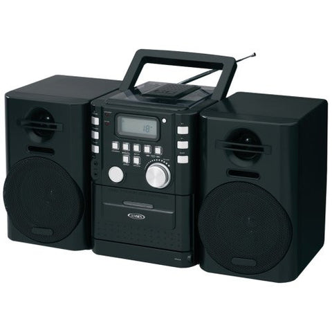 1 - Portable CD Music System with Cassette & FM Stereo Radio, Top-loading CD player, CD-R/RW compatible, CD-725
