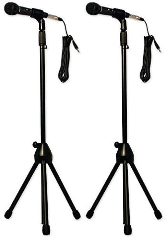 (2) Nady Center Stage Kits - Cardioid Microphones, Mic Stands, XLR Cables