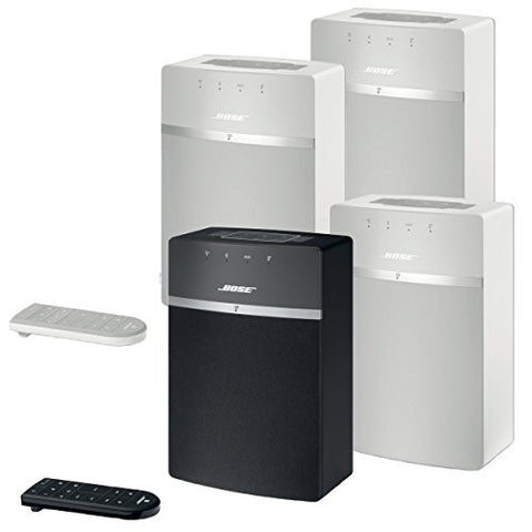 Bose SoundTouch 10 Wireless Music System Bundle 4-Pack - 3 White and 1 Black