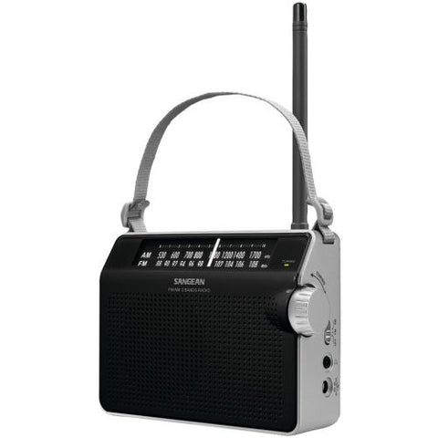 1 - AM/FM Compact Analog Radio (Black), AM/FM compact analog radio, AM/FM analog tuning provides clear & static-free listening, PR-D6BK