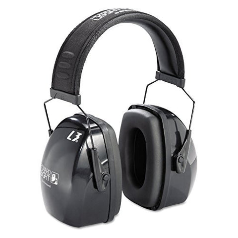 - Leightning L3 Noise-Blocking Earmuffs, 30NRR, Black/Gray
