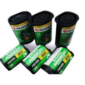(10 Rolls) Fuji APS Film 800 Speed 25 Exposures/roll Fujifilm Advantix Advanced Photo System Nexia