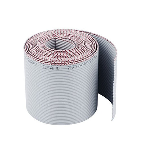1mm Pitch 40pin 40 Wire Flat IDC Ribbon Cable 50mm Wide 2M 6.5Ft Long